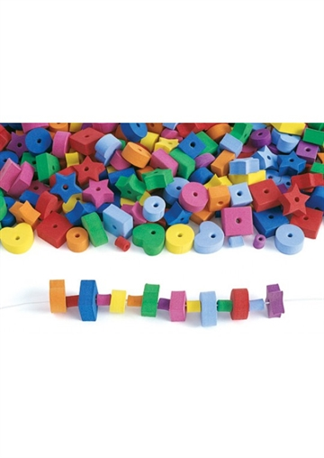 Jumbo fun foam beads - 500 stk