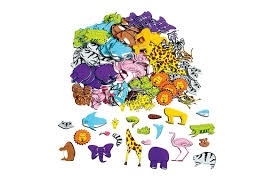 Mix & match animal foam shapes - 360 stk